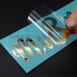 厂家定制金属镍标 金属logo商标贴