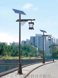led太阳能仿古中式景觀燈户外3米4米5米庭院防水