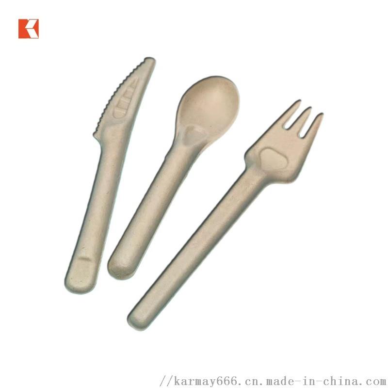 甘蔗浆餐具三件套刀叉勺可降解