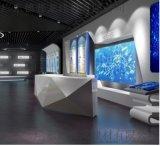 阅览室弧形50*300铝板焊接 艺术馆网格铝单板