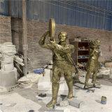 玻璃钢跳广场舞人物雕塑 公园文化广场仿铜人物玻璃钢