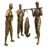 农耕文化人物雕塑 广场景观玻璃钢仿古铜雕塑小品
