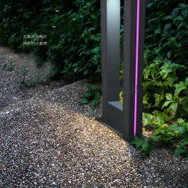 新款LED草坪灯欧式户外铝材草地灯现代方形草坪灯