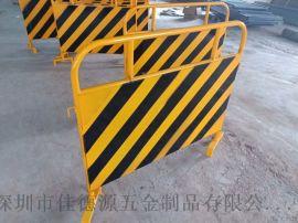 深圳市龙华交通道路安全铁马护栏警示牌