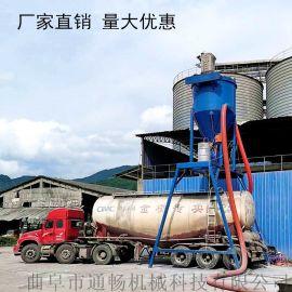 输灰装车用龙门架式风力吸料机钢板库粉煤灰清库设备