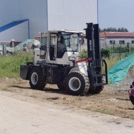 越野叉车 3吨柴油四驱货叉 多功能液压搬运车