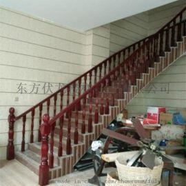 海口实木楼梯扶手弧形楼梯定制-海南省内上门测量包安装