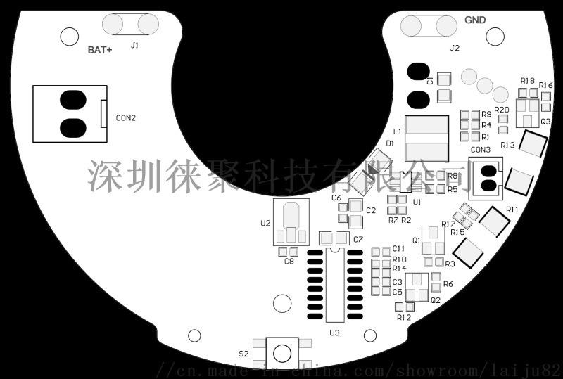 攜帶型榨汁機PCBA 7.4V