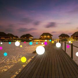 **LED发光圆球户外家具景观灯酒吧夜店装饰灯圆球灯