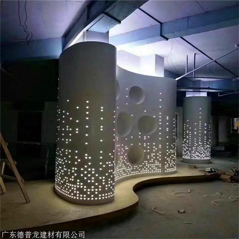 芙蓉包柱造型铝单板 罗马中式包柱铝单板定制