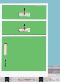 矮柜文件柜铁皮床头柜阳台活动柜子带锁