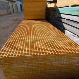防滑水沟盖板污水池格栅定制玻璃钢格板