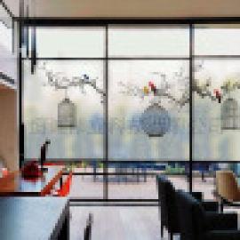 厨房玻璃uv打印机 隔断门彩印机 3D艺术移门打印机