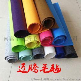 供应化纤  毛毡布 灰色涤纶毛毡布料   无纺布