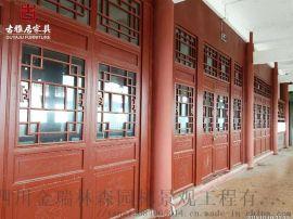 达州仿古门窗实木材质门窗 定制加工**厂家