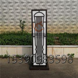 新中式景观草坪灯亚克力不锈钢柱头灯专业定制户外灯具