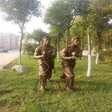 貴州玻璃鋼人物雕塑 農耕文化雕塑