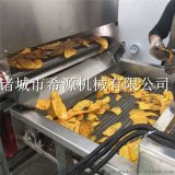 連續式薯片油炸機 鮮切紅薯片油炸生產線廠家