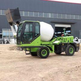 自动上料沙石混凝土2方攪拌運輸車 混凝土攪拌車