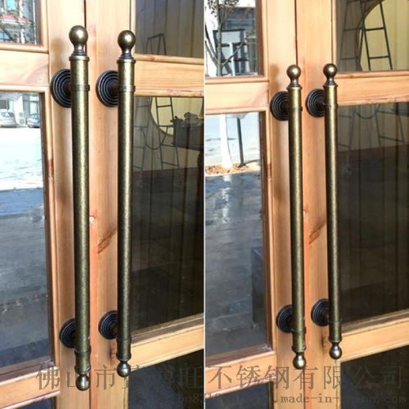 加厚不鏽鋼鋼化玻璃門拉手玻璃門大把手大門大拉手