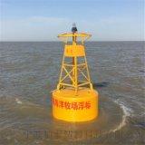 航标设施有雷达应答标反射器的海上 戒浮漂