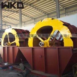 轮斗洗砂机视频 三排轮洗砂机产量 机制砂洗砂生产线