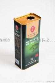 厂家定制食品级密封1.8L马口铁烹饪油铁桶量大从优