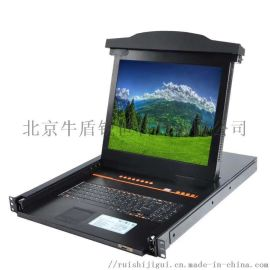 高清17寸24网口KVM切换器一体机带IP远程管理