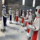 玻璃钢外壳模型 生产玻璃钢机器人外壳雕塑
