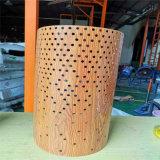 木紋衝孔鋁單板包柱 造型烤漆鋁單板包柱定製