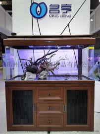 名亨魚缸超白玻璃定制客廳大型水族箱