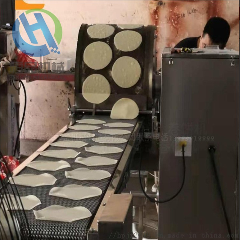 恆品全自動電磁荷葉餅機電加熱烤鴨餅機