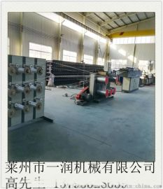 80型韩国亚麻扁丝拉丝机  海上养殖亚麻制绳生产线