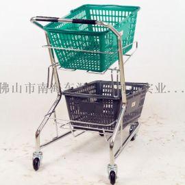 电镀三篮购物车(XQ-S610)