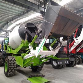 自上料混凝土搅拌车 建筑工程自上料搅拌车