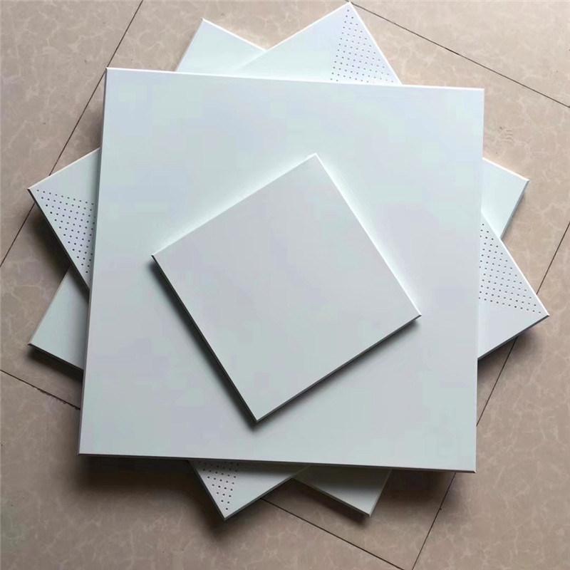 進出口白色工裝鋁扣板定製 純白色衝孔鋁扣板規格齊全