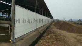 拓翔卷帘布 防寒保暖 白色畜牧养殖场卷帘布
