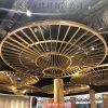 體驗中心圓形中庭鋁方通,圓弧50*50鋁方管吊頂