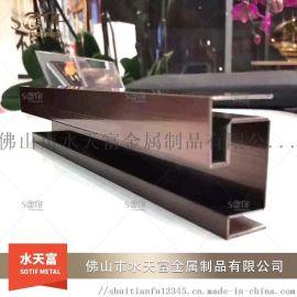 厂家直销 304不锈钢装饰线条 u型槽包边条 不锈钢收边条 批发定制