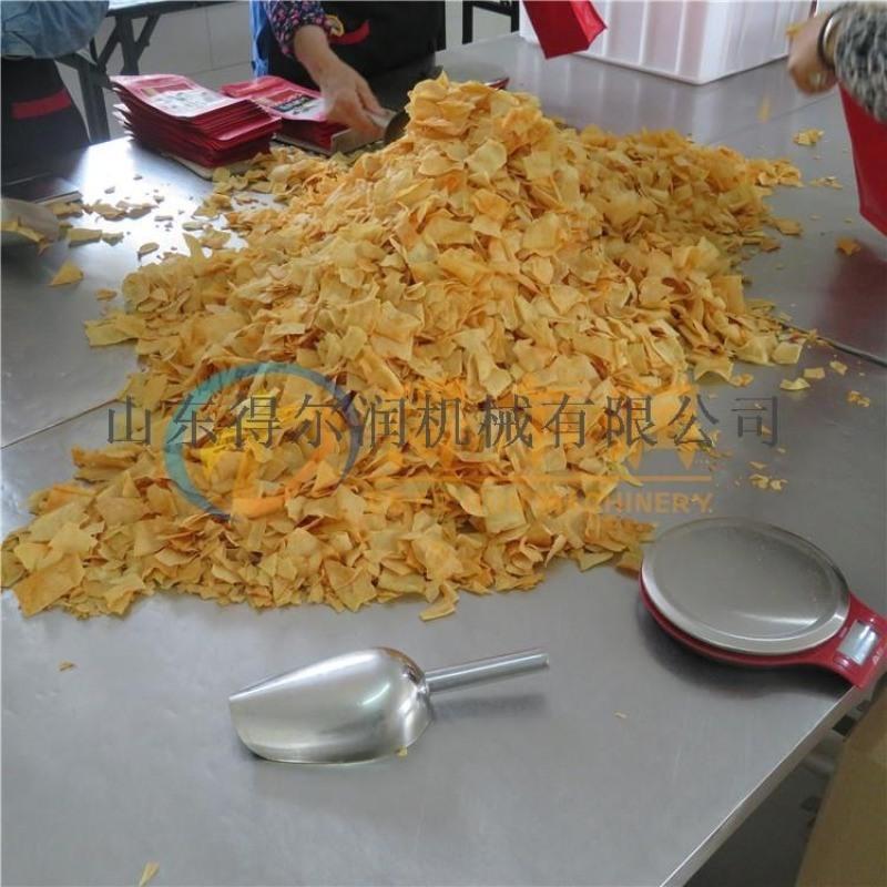 地方特色苦荞片油炸流水线 薯片腐竹片油炸设备