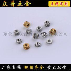五金加工厂众普五金热熔螺母多款可选手机螺母螺丝特价
