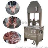 厂家直销留脑型液压猪头劈半机、自动切羊头牛头机器