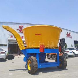 电动圆盘式草捆粉碎机厂家 全自动大型玉米秸秆破碎机