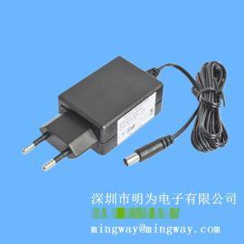 欧规插墙式12V1A直流电源适配器 LED开关电源