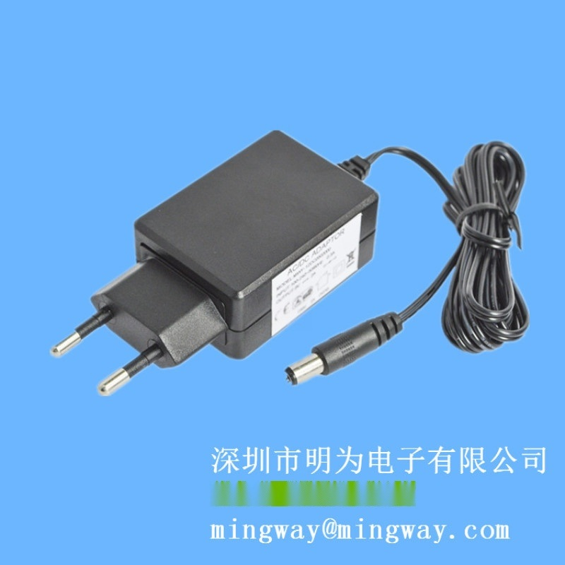 歐規插牆式12V1A直流電源適配器 LED開關電源
