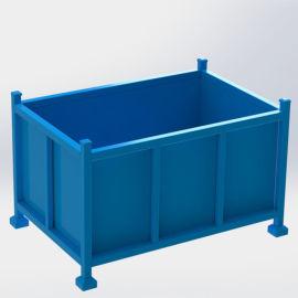 钢制料箱 可堆叠金属周转箱 循环包装箱 铁板箱