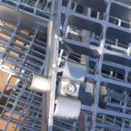 钢格板安装夹, 镀锌钢格板安装夹生产厂家