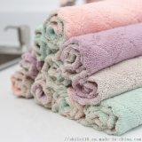 加厚雙面百潔布珊瑚絨不粘油廚房洗碗巾強吸水