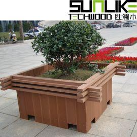 塑木花箱成品花箱实木花箱塑木花池木塑花箱厂家直销