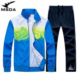 出口跨境运动员羽毛球训练服装户外运动休闲两件套装